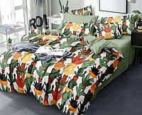 Комплект постельного белья Цветные Кактусы Selena Сатин Полуторный