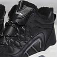 Модные зимние женские кроссовки с мехом черные Теплые женские кроссовки Ideal размер 36 - 41, фото 4