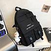 Рюкзак городской спортивный корейский с игрушкой брелком утка, фото 5