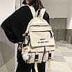 Рюкзак городской спортивный корейский с игрушкой брелком утка, фото 7