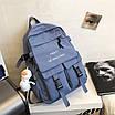 Рюкзак городской спортивный корейский с игрушкой брелком утка, фото 9