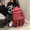 Рюкзак городской спортивный корейский с игрушкой брелком утка, фото 2