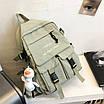 Рюкзак городской спортивный корейский с игрушкой брелком утка, фото 10