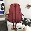 Рюкзак городской спортивный корейский с игрушкой брелком утка, фото 3