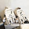 Рюкзак городской спортивный корейский с игрушкой брелком утка, фото 8