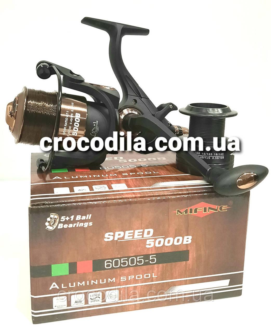 Катушка с бейтраннером  Mifine Speed 4000