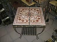 Кованый столик квадратный большой., фото 1