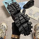Кроссовки женские Prada Cloudbust Thunder Triple Black (Чёрный), фото 4