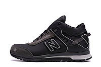 Мужские зимние кожаные кроссовки NB Clasic Black(реплика), фото 1