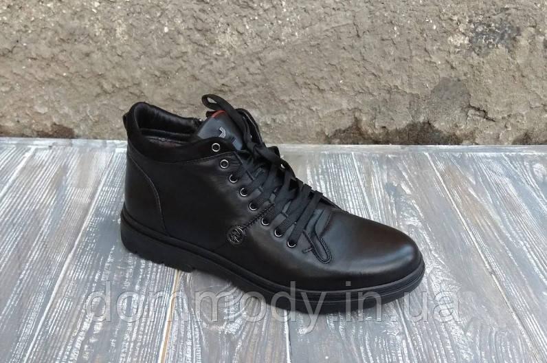 Ботинки мужские черного цвета Richard зимние