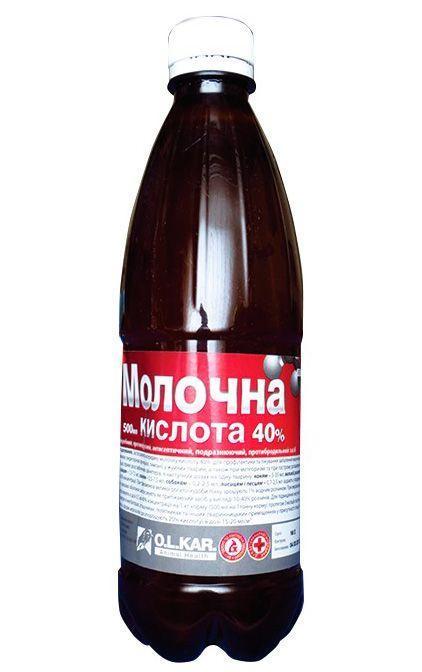 Кислота молочная 40%, 500 мл, O.L.KAR. (Олкар)