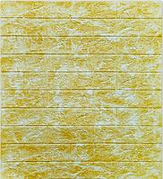 3Д панелі самоклеючі для стін під мармур Жовтий