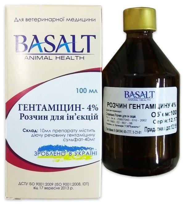 Гентамицин 4%, 100 мл, Базальт