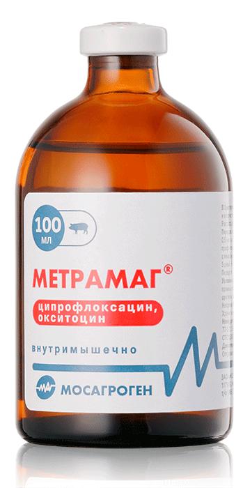 Метрамаг раствор для инъекций, 100 мл, Мосагроген