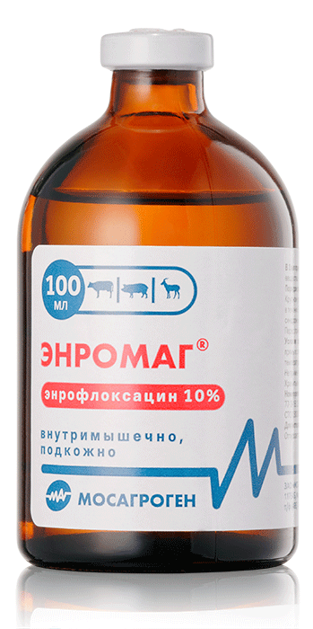 Энромаг 10% раствор для инъекций, 100 мл, Мосагроген