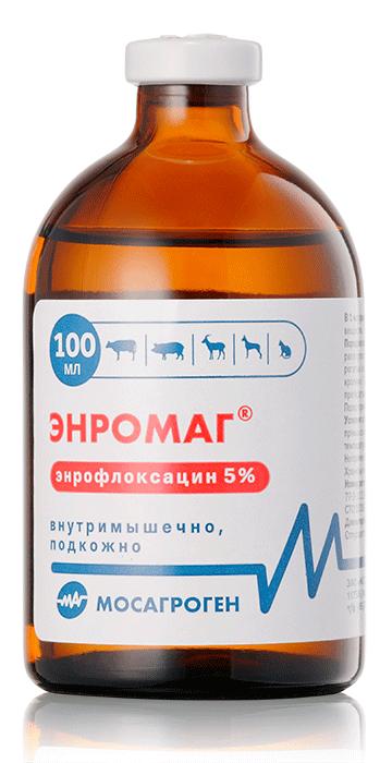 Энромаг 5% раствор для инъекций, 100 мл, Мосагроген