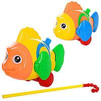 Каталка Рибка на палічці рухає хвостом, плавниками, 23см 0366