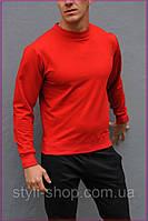 Красный свитшот, унисекс, весна-осень. Мужской, женский свитшот. Спортивная кофта, спортивные кофты