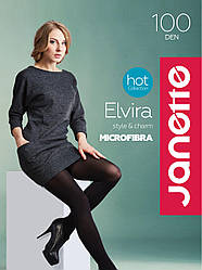 Колготи ELVIRA 100 DEN мікрофібра Бренд:JANETTE №2,3,4,5,6
