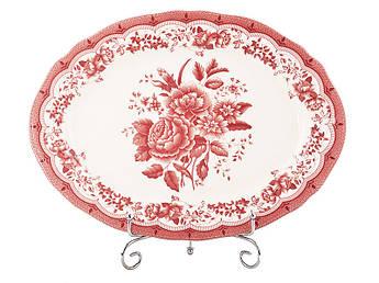 Овальное блюдо Victoria pink 350мм