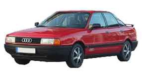 Дефлекторы на боковые стекла (Ветровики) для Audi (Ауди) 80 (B3) 1986-1991