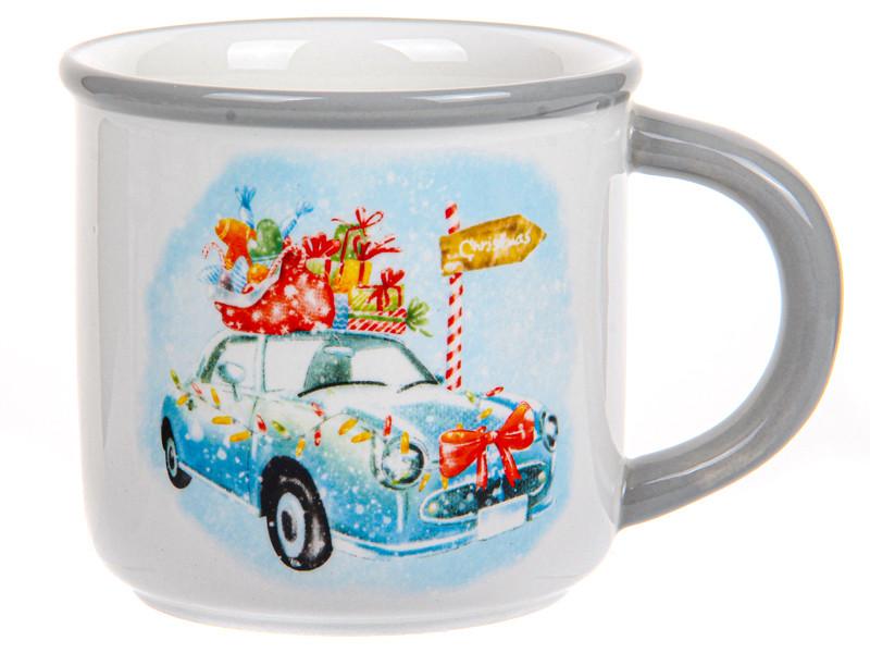 Новогодние сувениры посуда Керамическая новогодняя кружка 400мл 358-992