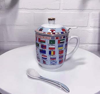 Заварочная чашка Флаги мира 300мл