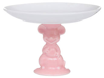 Блюдо на ножке для десертов Розовая мышка 16см