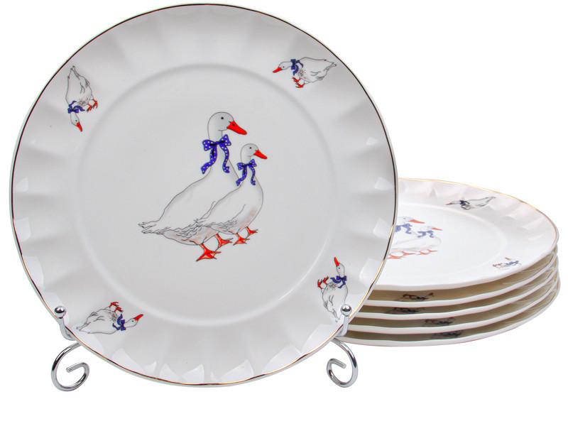 Набор тарелок Гуси 260мм 6шт