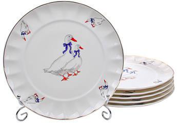 Набор тарелок Гуси 200мм 6шт