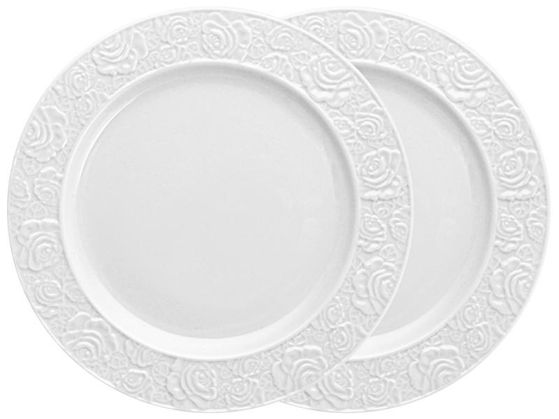 Набір двох білих тарілок Лімож 20.5 см
