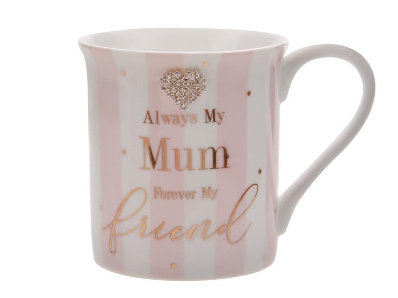 Чашка зі стразами Мама кращий друг 350мл