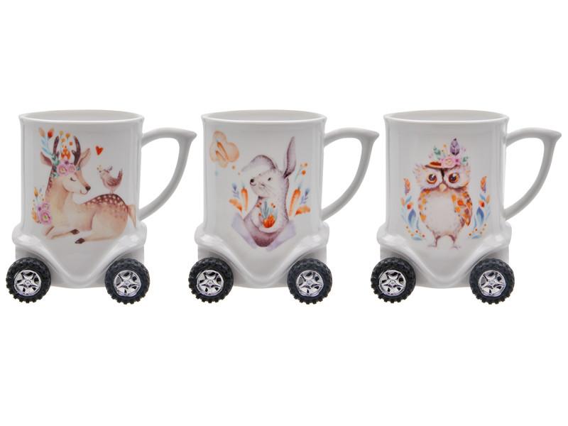 Чашка на колесиках Животные 320мл