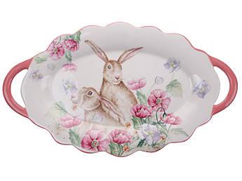 Пасхальная посуда блюдо кролик керамика 48см 358-965