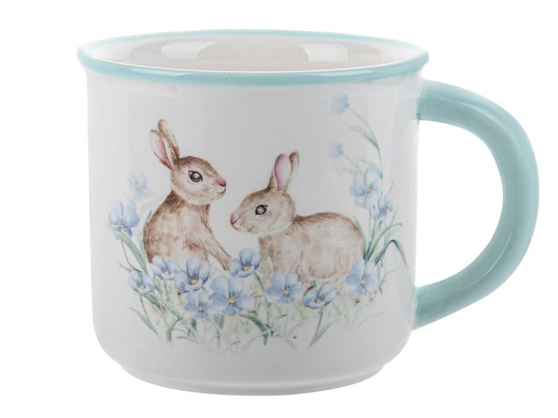 Кружка Пасхальные кролики 400мл