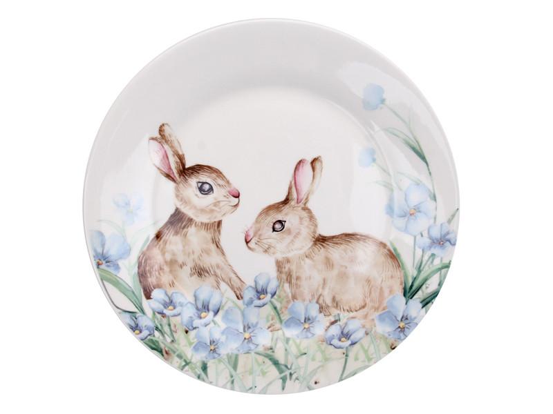 Тарелка Пасхальные кролики 21см