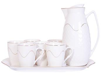 Чайний набір на підносі Lefard 8пр