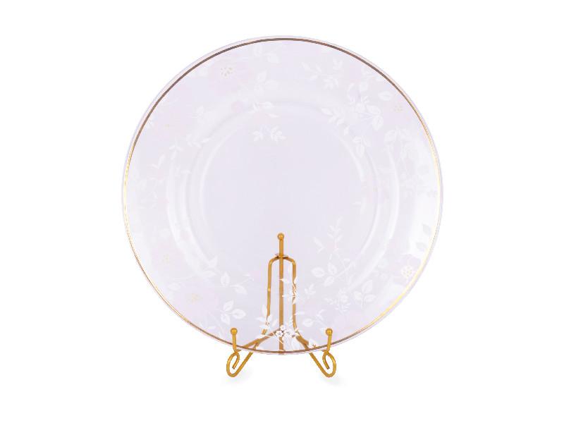 Стеклянное круглое блюдо Lefard Виллари 265мм