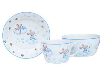 Набір дитячого посуду для хлопчика Мишеня 3пр