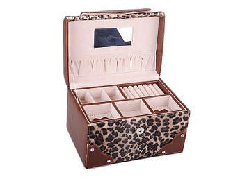 Шкатулка для прикрас леопард/коричневий Lefard 24х16х15см
