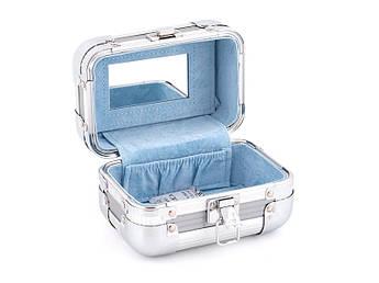 Кейс для косметики блакитний Lefard 15х10х10см