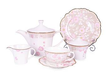 Фарфоровый чайно столовый набор Lefard Виллари 220мл/21см 21пр