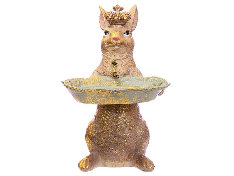 Блюдо декоративное король кролик 22.5см