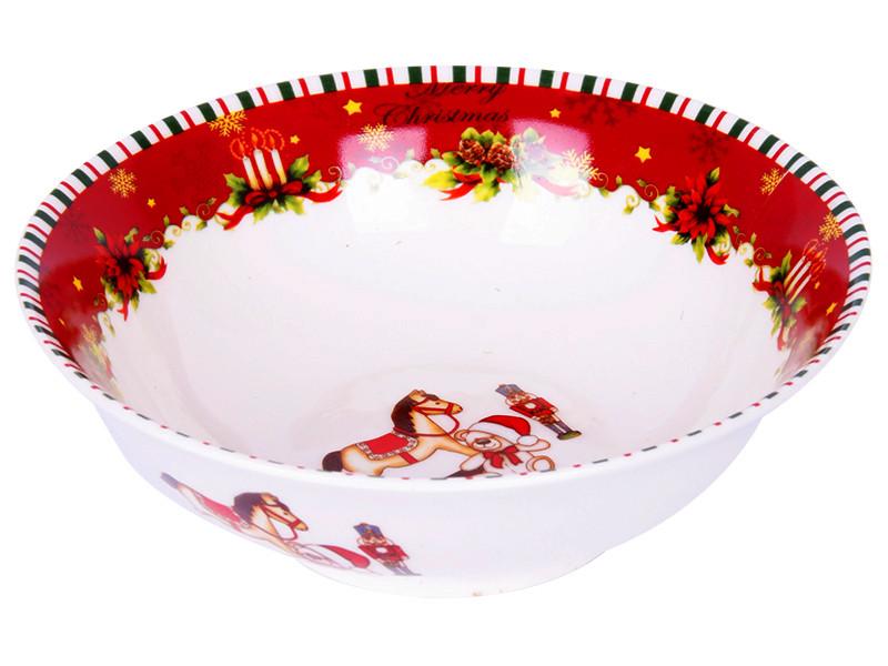 Новогодняя фарфоровая посуда Новогодний салатник 15.5см
