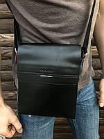 Сумка на плечо Gorangd мужская кожзам черная, фото 1