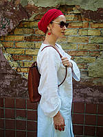 Женская кожаная сумка-рюкзак гейша