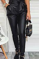 Жіночі шкіряні штани Чорні