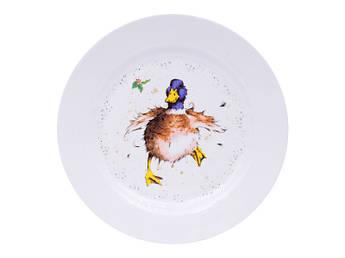 Тарелка большая с гусем 25см