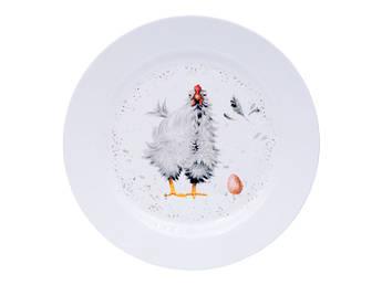 Пасхальная тарелка с курочкой 25см