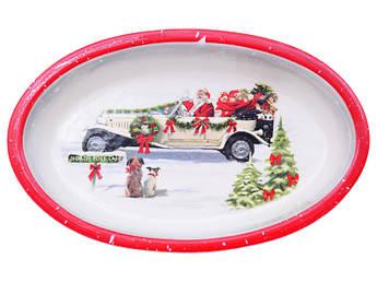 Посуда новый год Блюдо для запекания новогоднее 28см